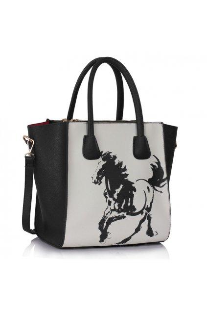 Shopper kabelka do ruky Orrie čierna / biela LS0061A