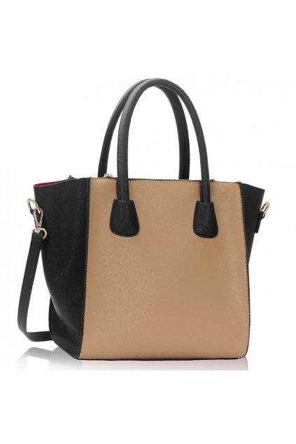 Shopper kabelka do ruky Orrie čierna / telová LS0061A