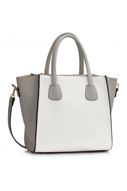 Shopper kabelka do ruky Orrie sivo biela LS0061A