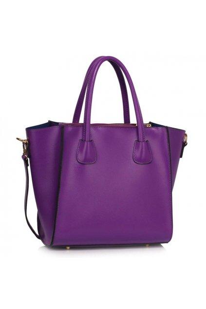 Shopper kabelka do ruky Sandra fialová LS0061B