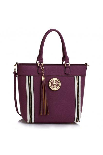 Shopper kabelka do ruky Tessie fialová LS00404