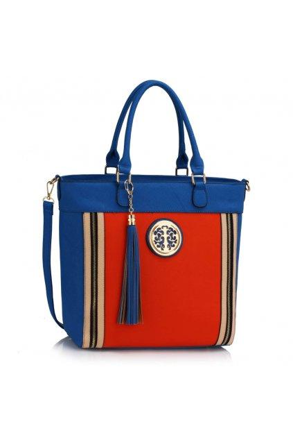 Shopper kabelka do ruky Tessie modrá / oranžová LS00404