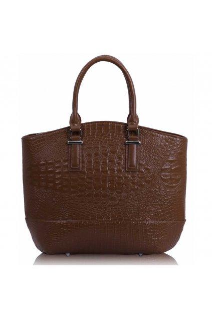Shopper kabelka do ruky Tony hnedá LS00104C