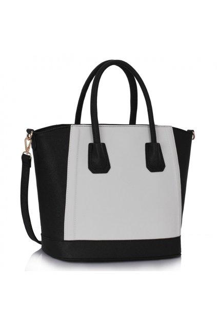 Shopper kabelka do ruky Trissie čierno / biela LS0090B