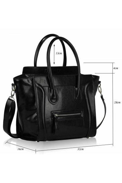 Shopper kabelka do ruky Zaza Rebel A čierna LS00143A