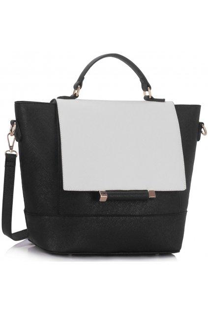 Shopper kabelka Enna LS00355 čierna / biela