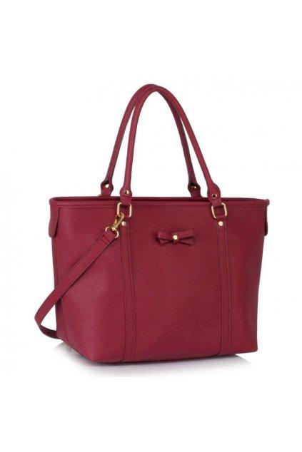 Shopper kabelka Mariette bordová LS00507