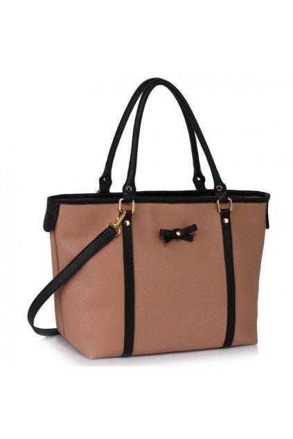 Shopper kabelka Mariette čierna / telová LS00507