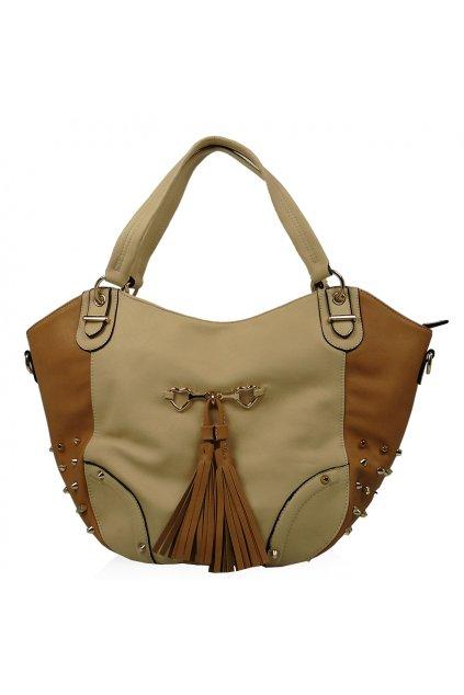 Shopper kabelka YIFENG béžová 9932a
