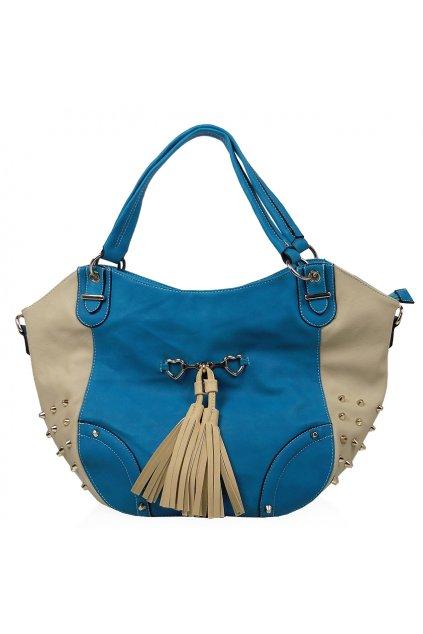 Shopper kabelka YIFENG modrá 9932a