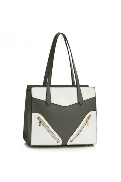 Sivo - biela kabelka na rameno Camille