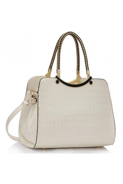 Trendová kabelka do ruky Cory biela LS00395