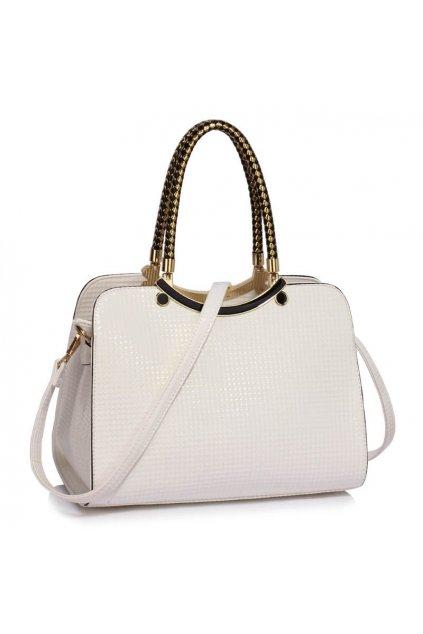 Trendová kabelka do ruky Cory biela LS00395a