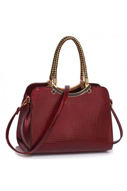 Trendová kabelka do ruky Cory bordová LS00395a