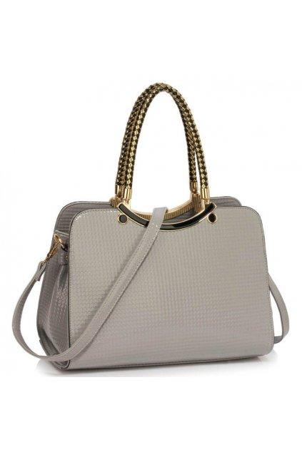 Trendová kabelka do ruky Cory sivá LS00395a