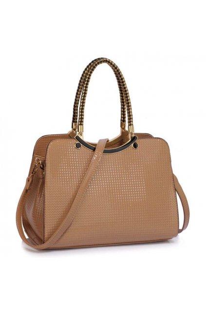 Trendová kabelka do ruky Cory telová LS00395