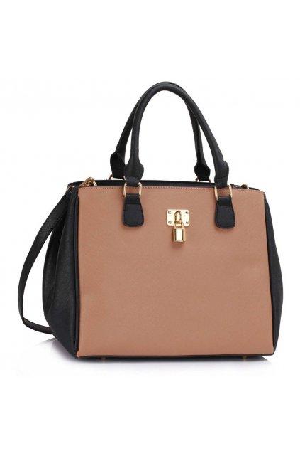 Trendová kabelka do ruky Janis čierno / telová LS00410