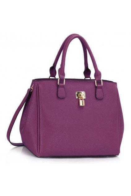 Trendová kabelka do ruky Janis fialová LS00410