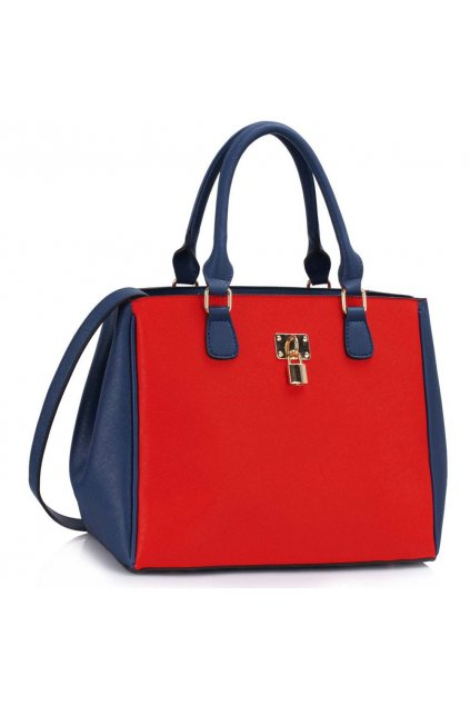 Trendová kabelka do ruky Janis modro-červená LS00410