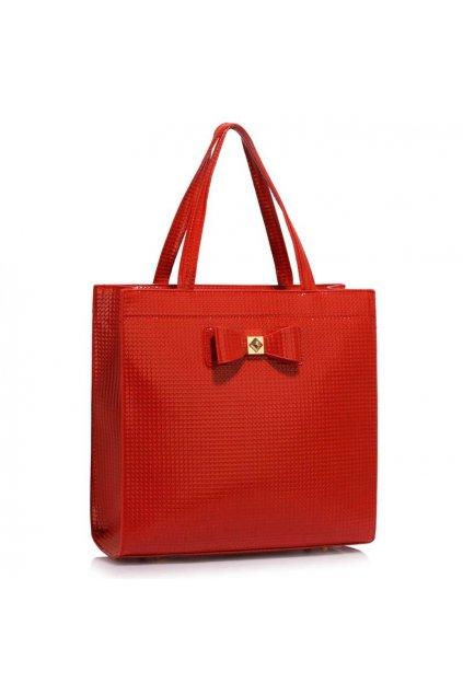 Trendová kabelka do ruky Lisa A červená LS00383a