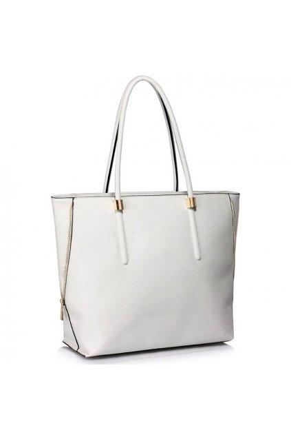 Trendová kabelka Dora biela LS00494