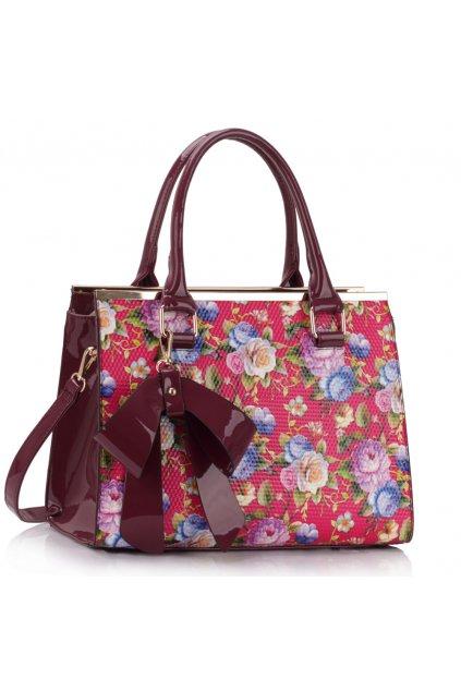 Trendová kvetinová kabelka do ruky Abbie ružová LS00374