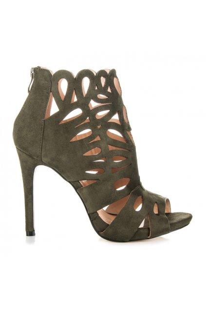 Ažurové topánky na ihlovom opätku m251gr veľ.č. 37 (Veľkosť 42)