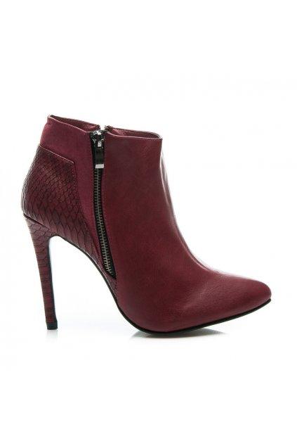 Červené topánky na vysokom opätku AL3-K30R / S1-30P