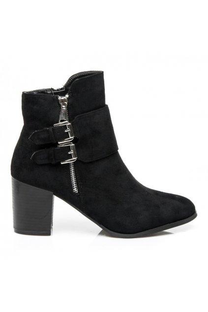 Čierne topánky GLAMOUR 50-M52211B / S1-57P veľ.č. 38, 39 (Veľkosť UK6 / EUR 39)