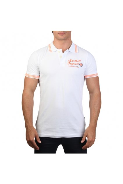 Pánske polo tričko Marshall Original biela (Veľkosť S,)