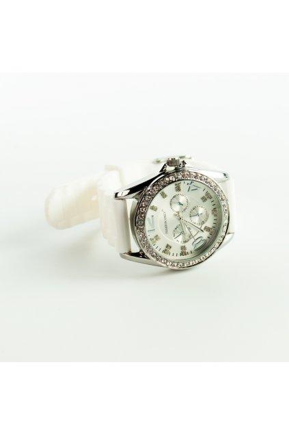 Biele silikónové hodinky Fashion Only