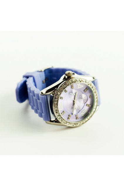 Fialové silikónové hodinky Fashion Only