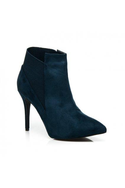 Semišové topánky na opätku 8865Y-D.BL (Veľkosť UK8 / EUR 41)