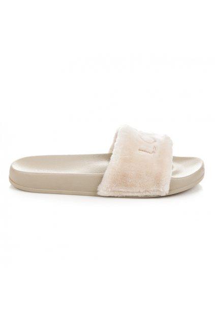 Béžové papuče LOVE S26-14BE
