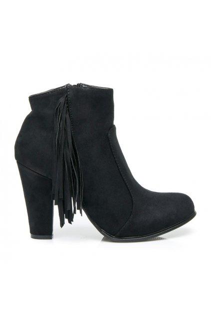 Čierne topánky Boho F916-1B / S3-101P