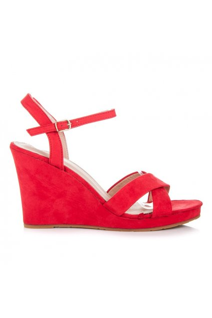 Červené sandále 3A303R