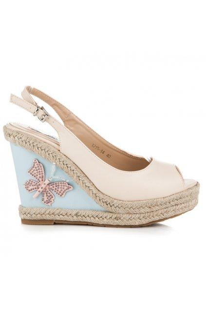 Sandále s motýľom 1215-14BE