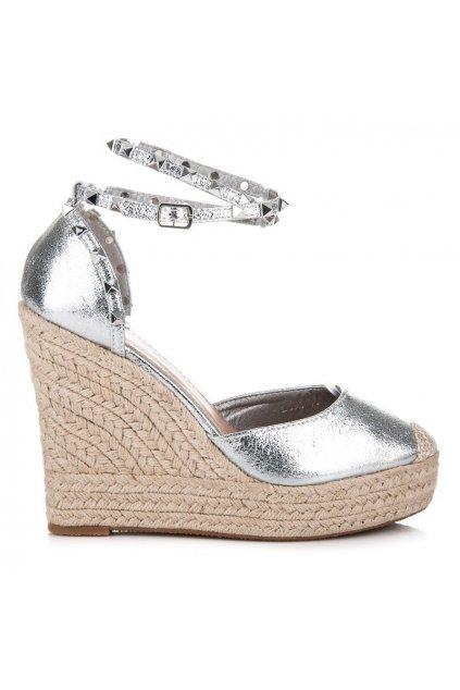 Perfektné semišové sandále s cvočkami LL92JS
