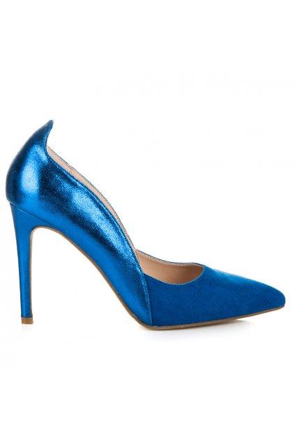 Trblietavé modré lodičky 9175-33BL