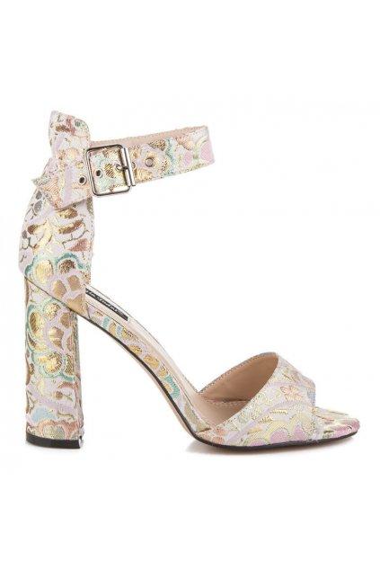 Štýlové sandále s kvetmi HP38P