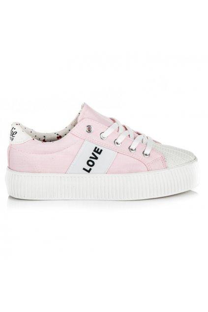 Ružové tenisky LOVE & PEACE K1720302RO