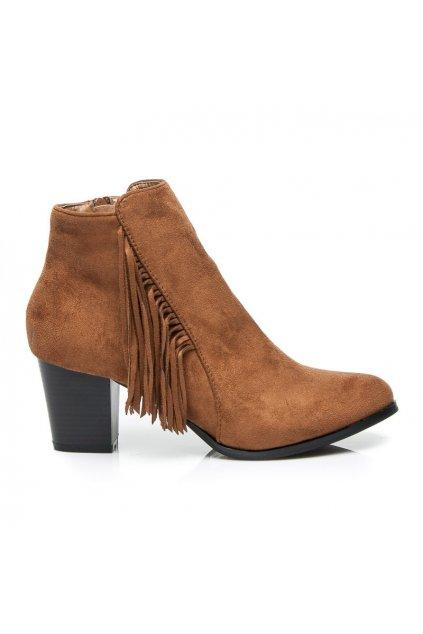 Hnedé topánky BOHO PN1523C / S1-30P