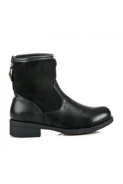 Čierne dámske čižmy VQ-33B