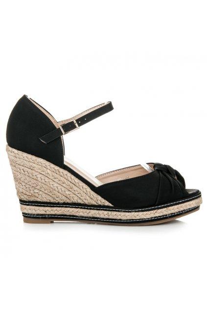 Čierne sandále s prackou S03B