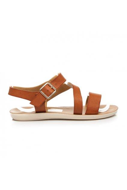 Dámske sandále hnedobéžové HH0008C veľ.č. 36 (Veľkosť UK7 / EUR 40)