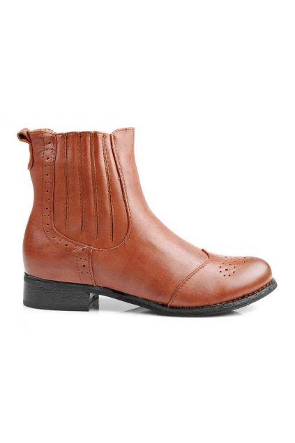 Štýlové dámske kotníkové topánky (Veľkosť UK7 / EUR 40)