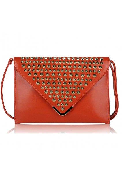 Oranžová listová kabelka LSE00205