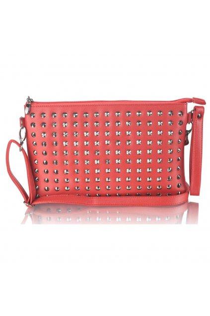 Červená listová kabelka LSE00230