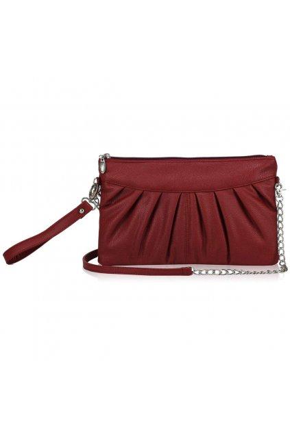 Červená listová kabelka LSE00200