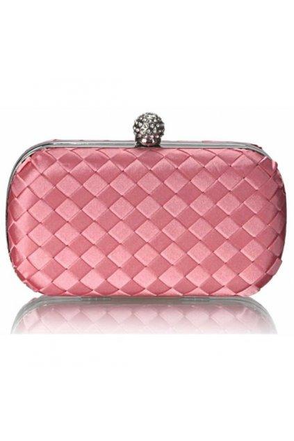 Večerná clutch kabelka ružová LSE00213